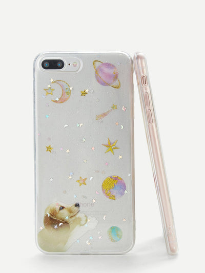 Dog & Planet Iphone Phone Case - Phone Cases