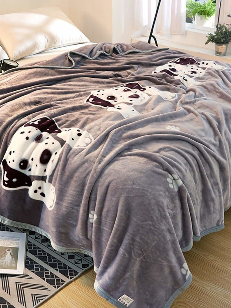 Dog Print Blanket 1Pc - Bedding Sets