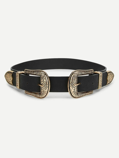 Double Western Buckle Belt - Belts