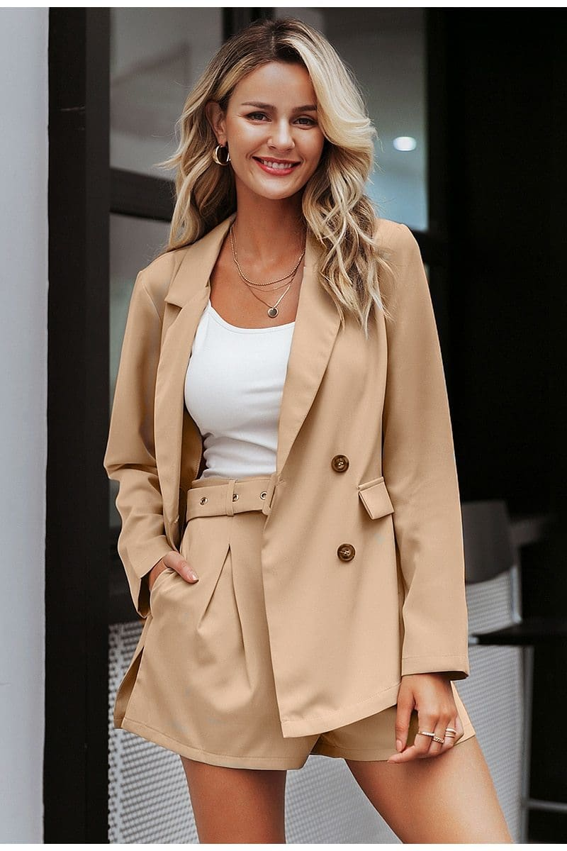 Elegant Streetwear Blazer Office Sets