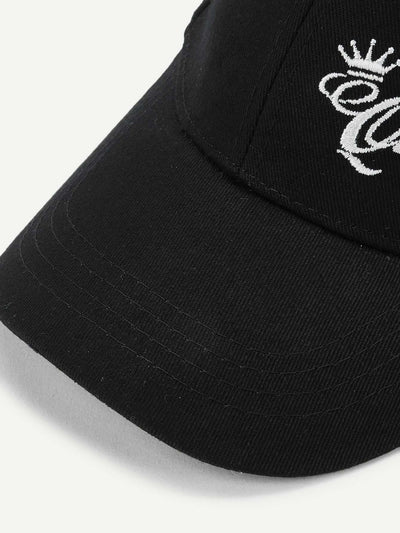 Embroidered Letter Baseball Cap - Hats & Gloves