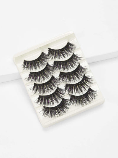 False Eyelash 5Pairs - Beauty Tools