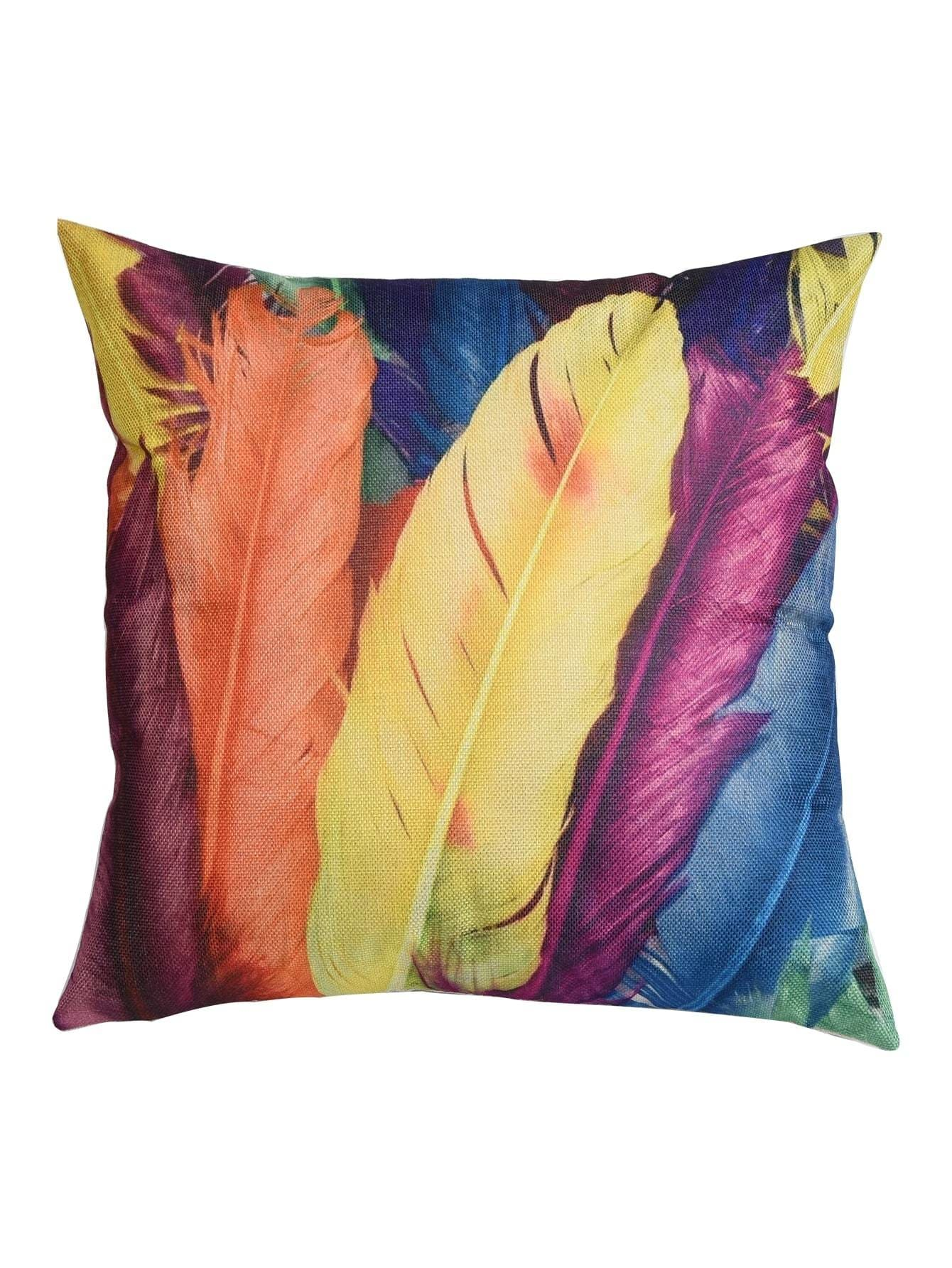 Feather Print Pillowcase