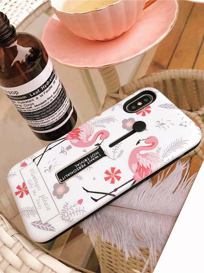 Flamingo Print Iphone Case - Phone Cases
