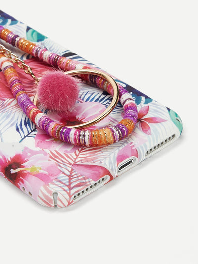 Flamingos Iphone Phone Case With Charm - Phone Cases