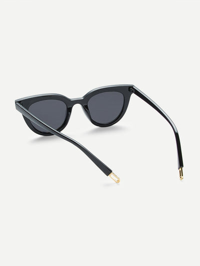 Flat Lens Cat Eye Sunglasses - Sunglasses