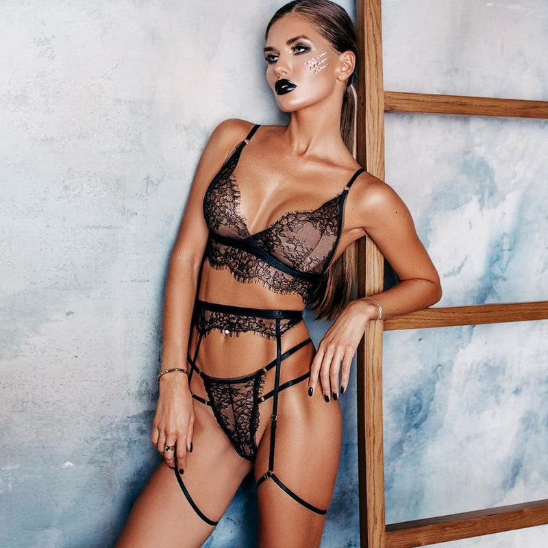 Floral Lace Wireless Lingerie Set