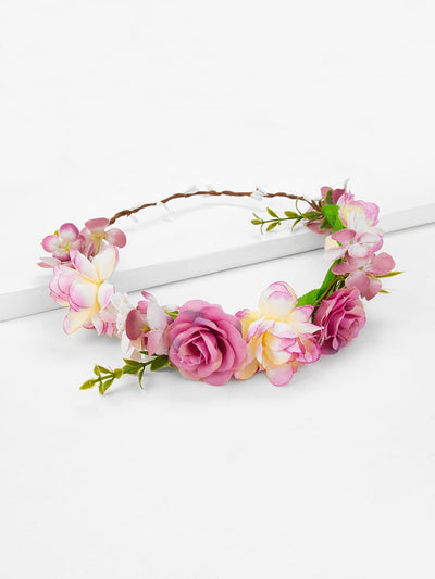 Flower Decorated Garland - Hair Accessories