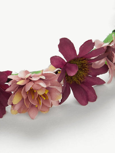 Flower Decorated Headband - Hair Accessories