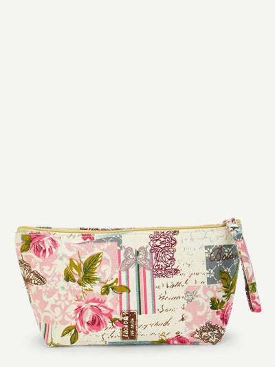 Flower Print Makeup Bag - Makeup Bags
