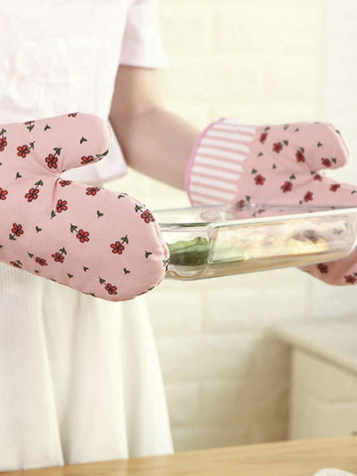 Flower Print Oven Glove 1Pc - Bakeware