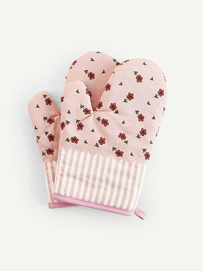 Flower Print Oven Glove 1Pc - One-Size / One Color - Bakeware