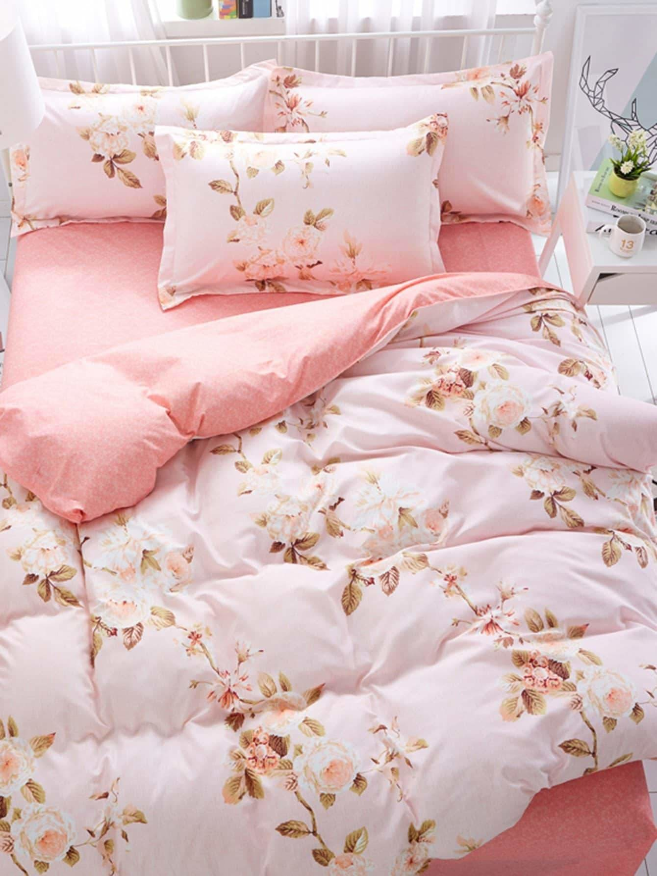 Flower Print Sheet Set - Bedding Sets