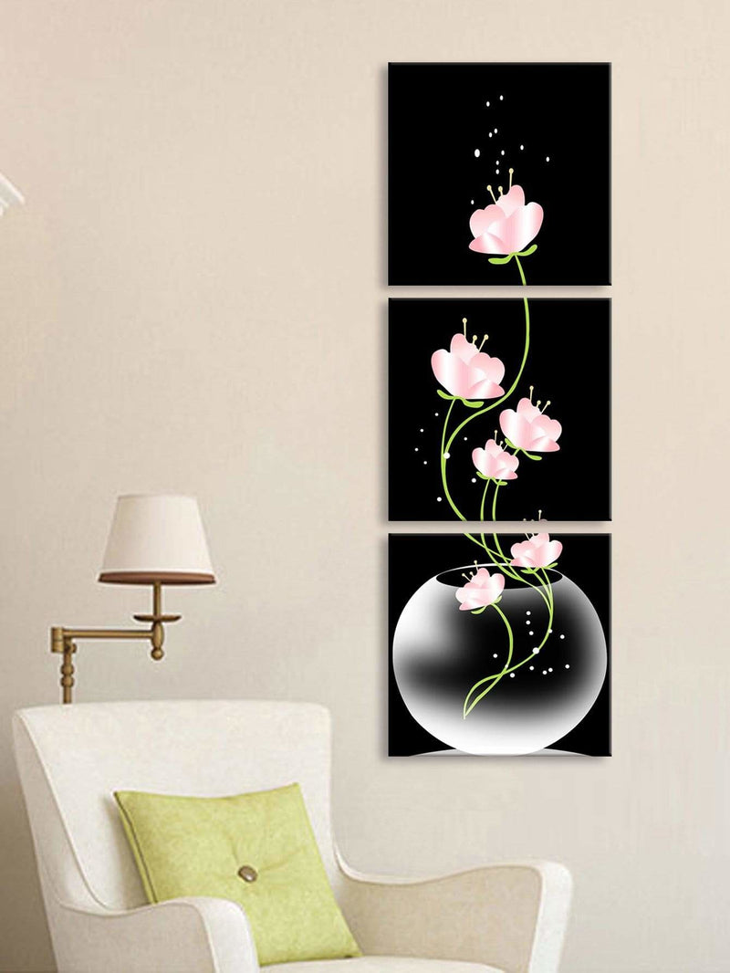 Flower Print Wall Art 3Pcs - Wall Art