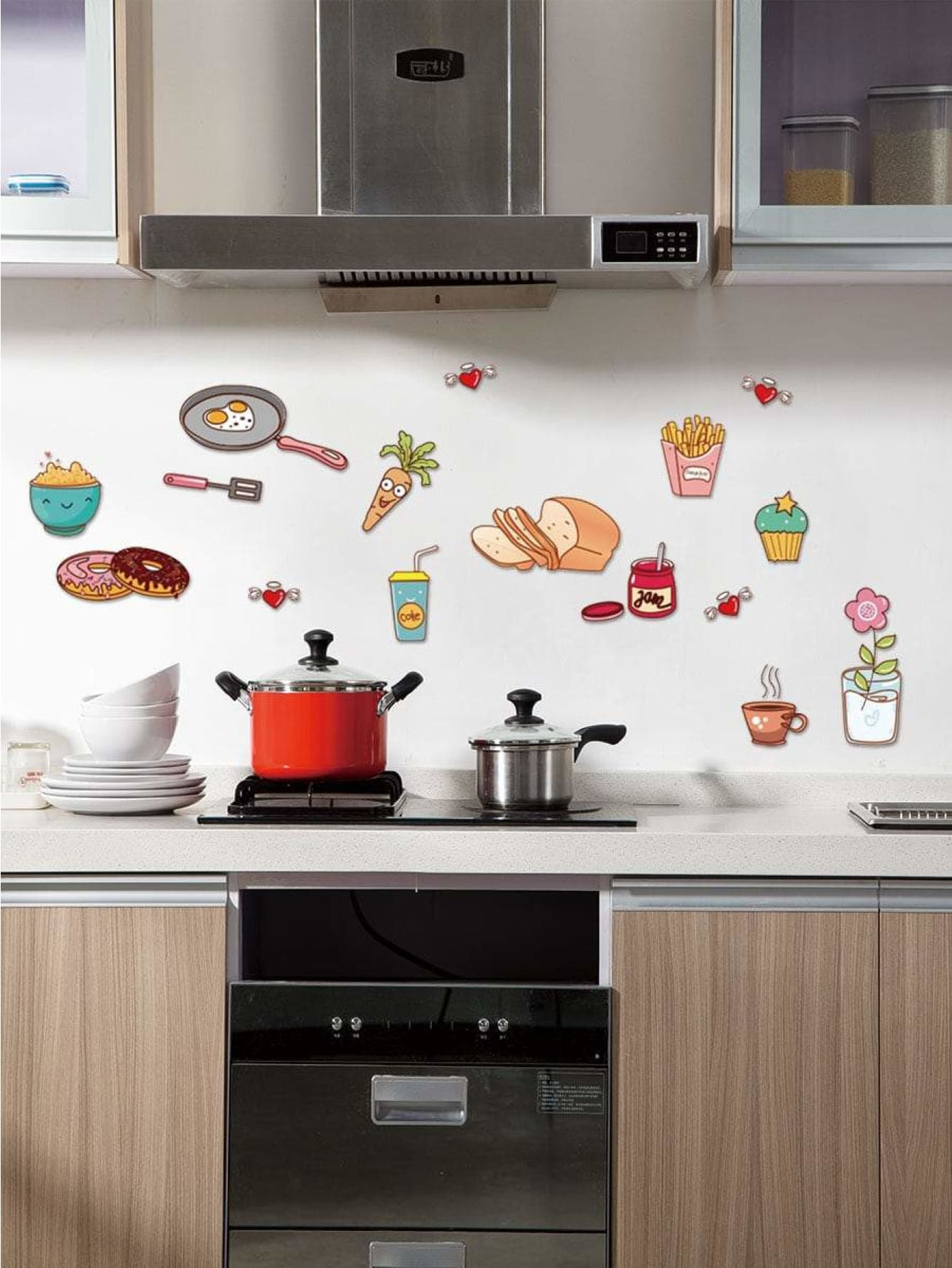 Food Print Wall Sticker - Wall Art