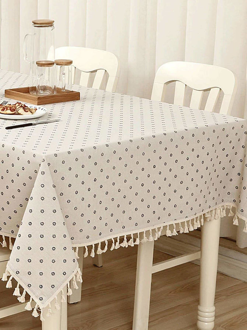 Fringe Trim Table Cloth