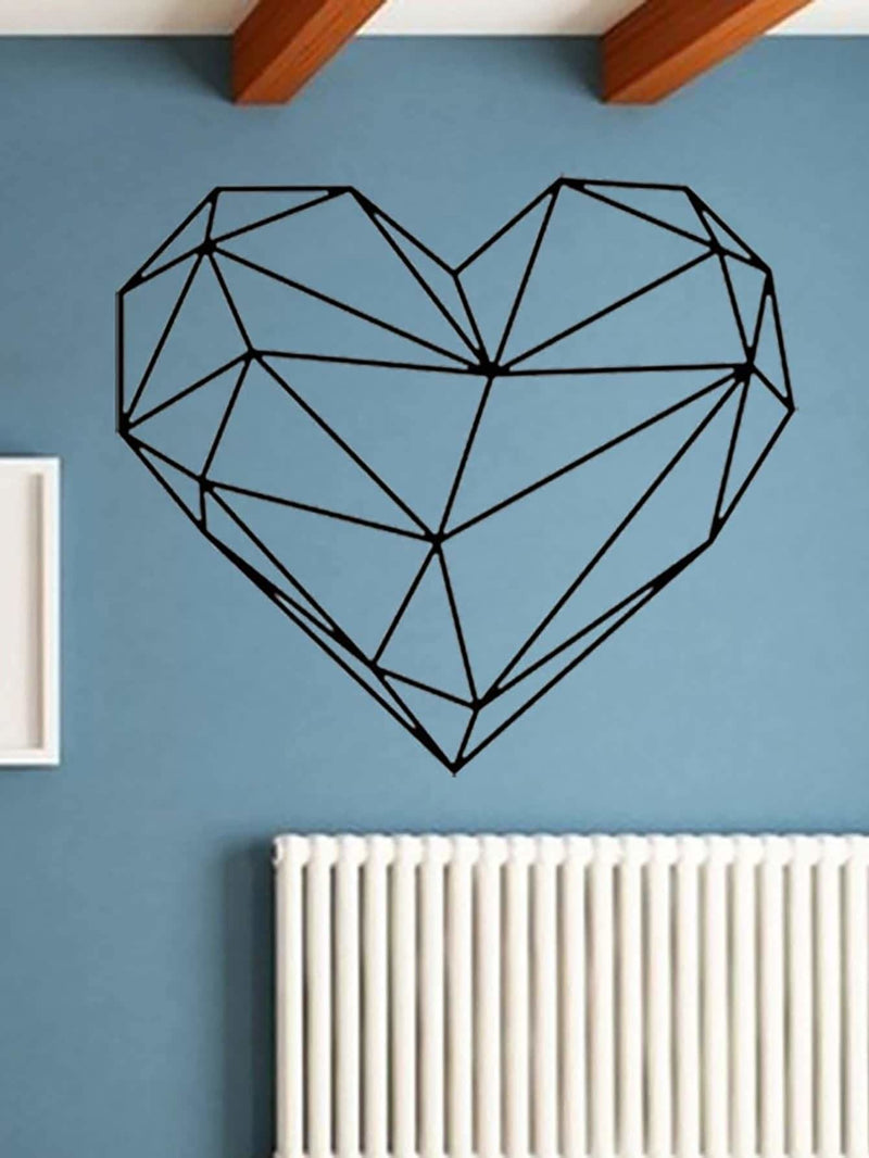 Geometric Heart Shaped Wall Sticker - Wall Art