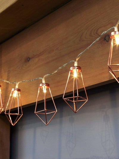 Geometric Lampshade 10pcs String Light - Lighting & Lamps