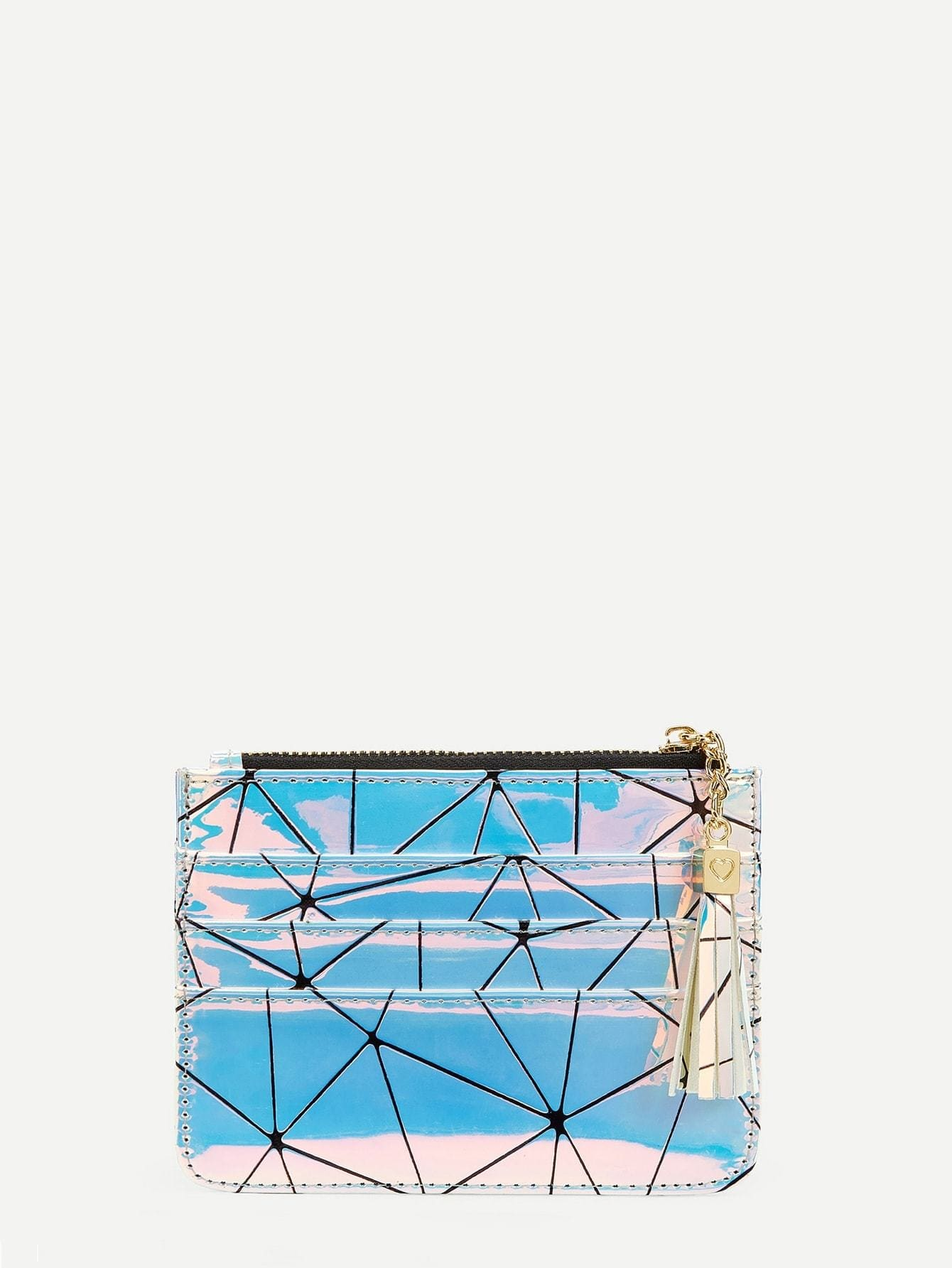 Geometric Print Iridescent Purse - Womens Bag