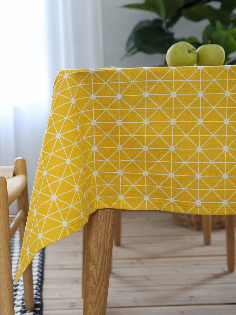 Geometric Print Table Cloth