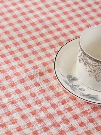 Gingham Print Table Cloth - Kitchen & Table Linens