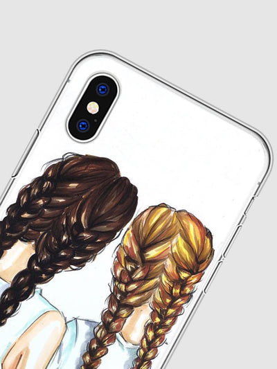 Girl Print iPhone Phone Case - Phone Cases