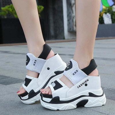 Gladiator Platform Sandals Sneakers - Womens Sneakers