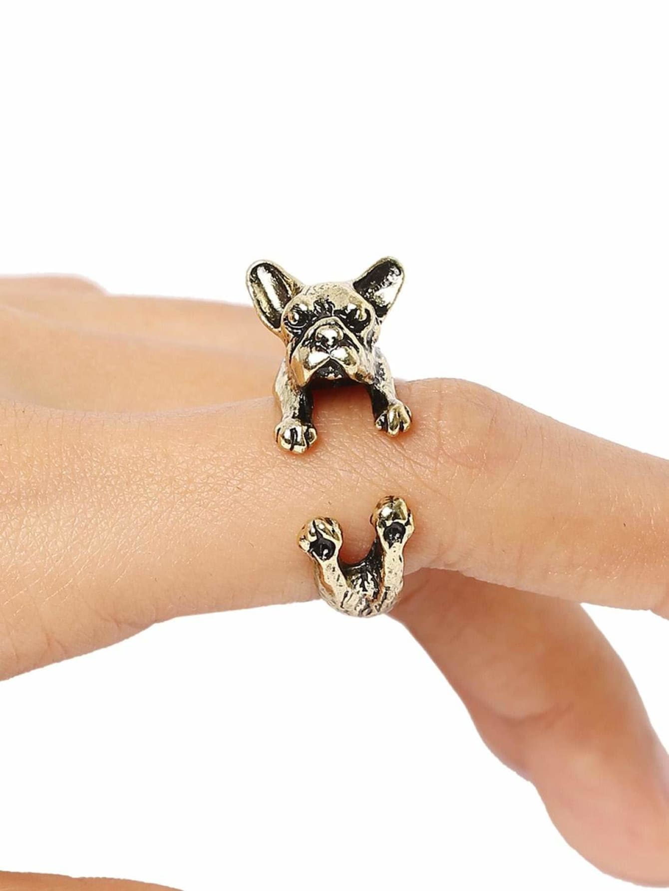 Gold Bulldog Ring - Rings