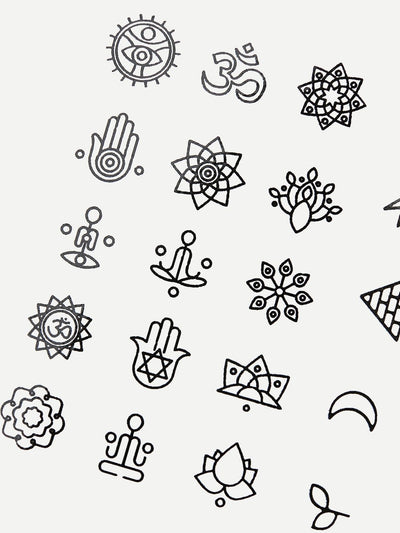 Graphic Tattoo Sticker Two Sheets - Beauty Tools