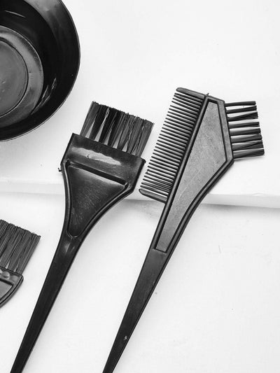 Hair Dye Bowl & Brush 4Pcs - Beauty Tools