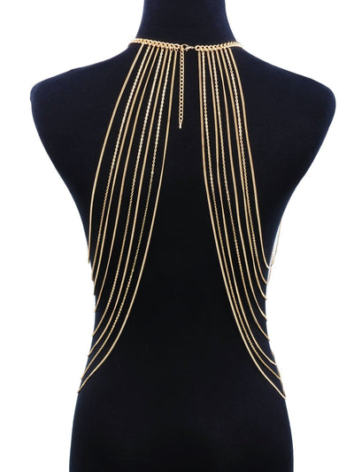 Halter Layered Festival Body Jewelry - Body Jewelry