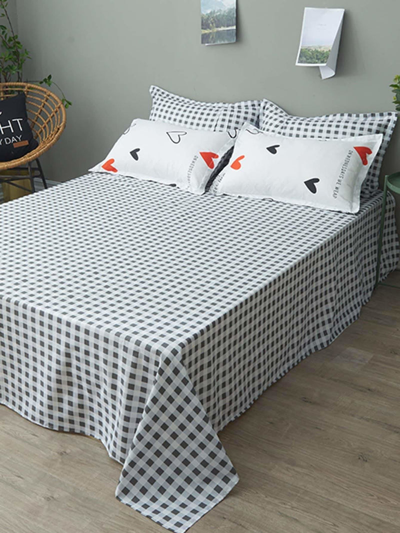 Heart & Letter Print Sheet Set - Bedding Sets