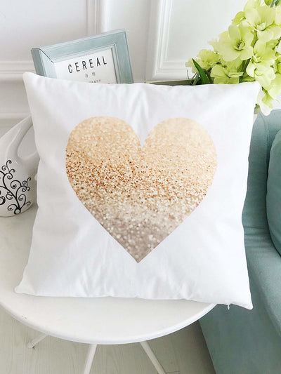 Heart Print Pillowcase - Decorative Pillows