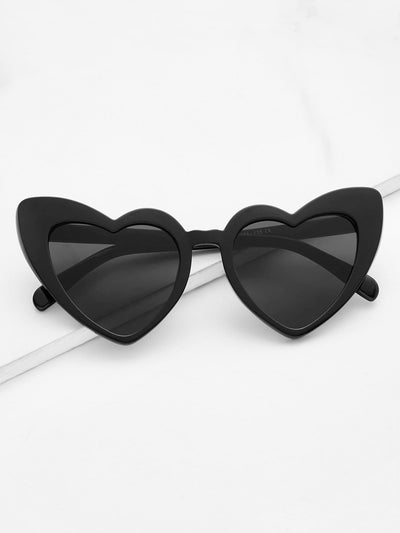 Heart Shaped Frame Sunglasses - Sunglasses
