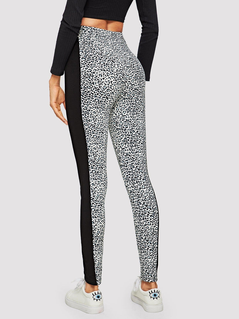 High Waist Leopard Print Leggings - Fittness Leggings