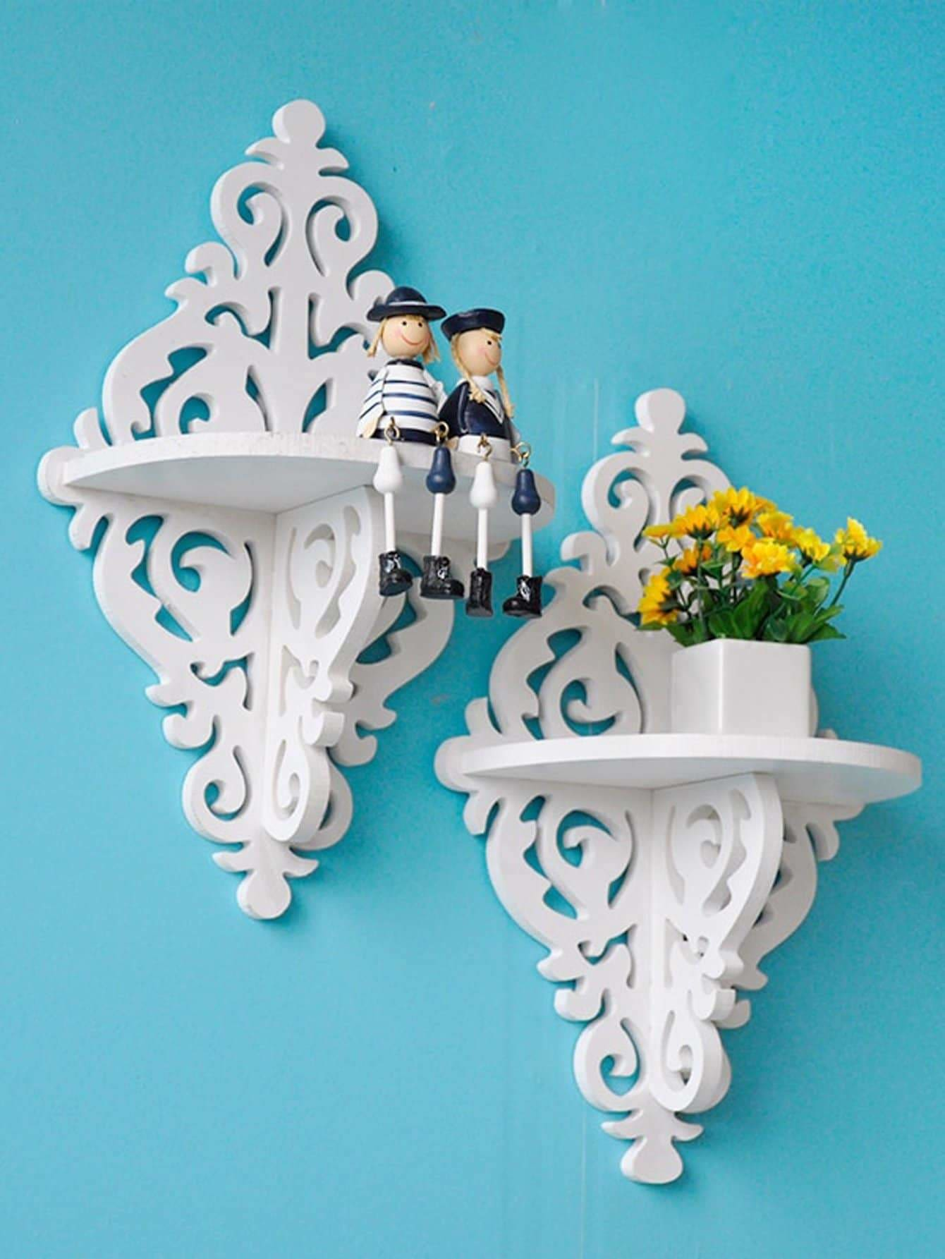 Hollow Cantilever Wall Shelf 1Pc - Wall Art