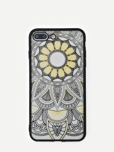 Hollow Lotus Print Iphone Phone Case - Phone Cases