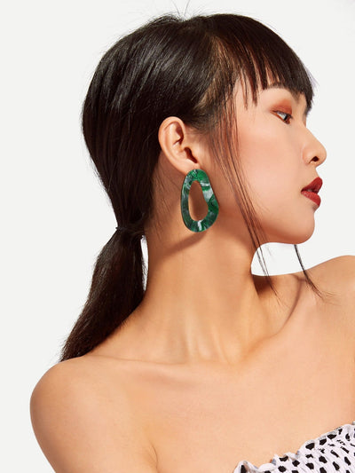 Irregular Shaped Design Drop Earrings - Earrings