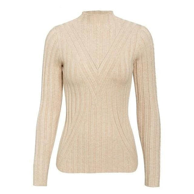 Knitted Long Sleeve Turtleneck Sweater - One Size / Lavender - Hoodies & Sweatshirts