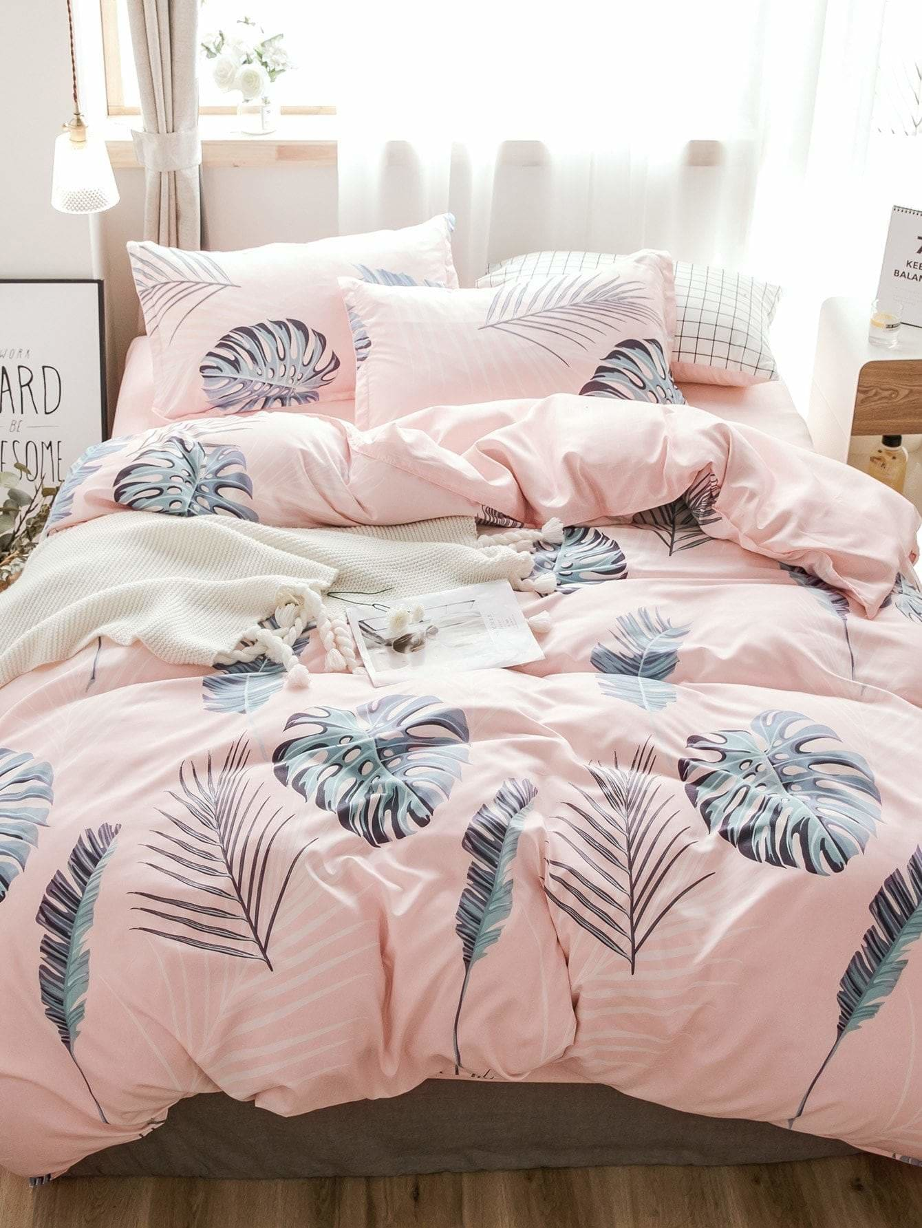 Leaf Print Duvet Cover 1 PC - Bedding Sets