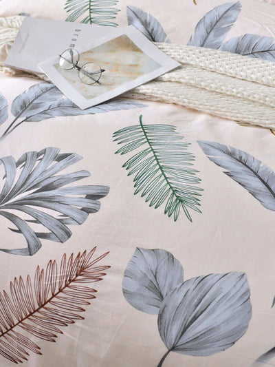 Leaf Print Duvet Cover 1Pc - Bedding Sets