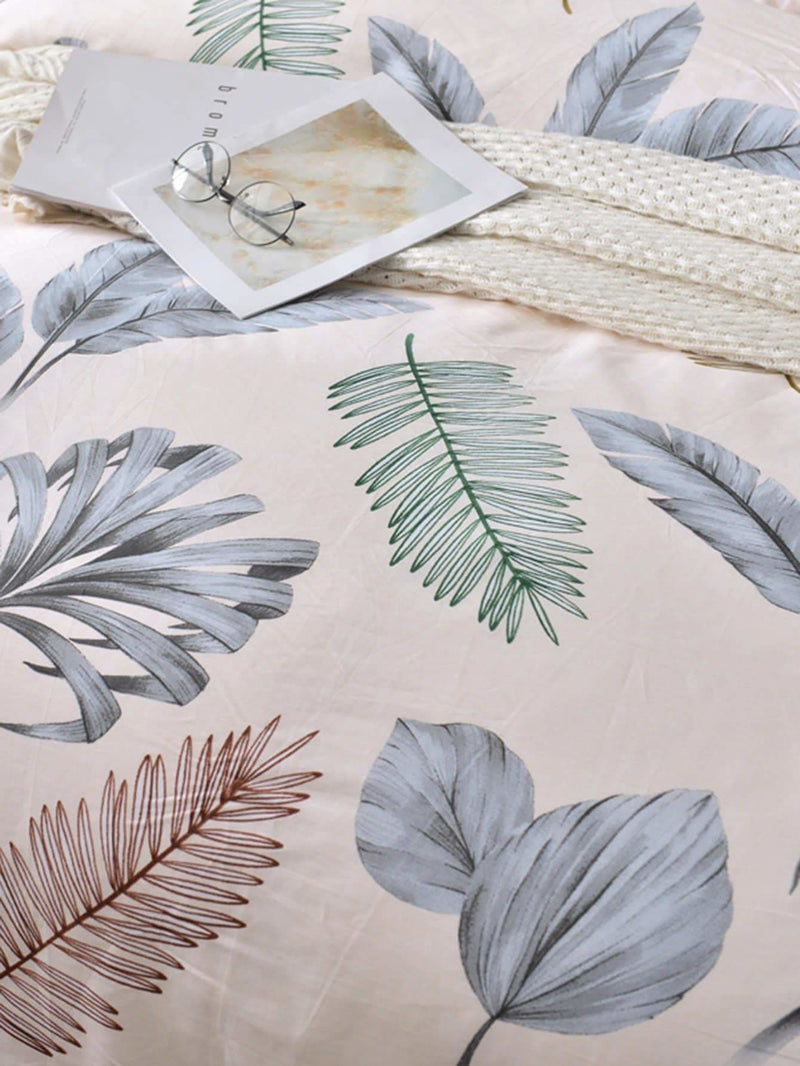Leaf Print Duvet Cover 1PC