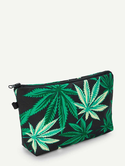 Leaf Print Makeup Bag - Makeup Bags