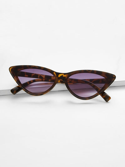 Leopard Frame Cat Eye Sunglasses - Sunglasses