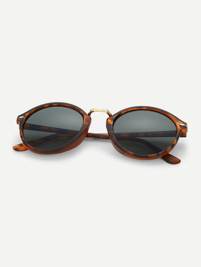 Leopard Frame Sunglasses - Sunglasses