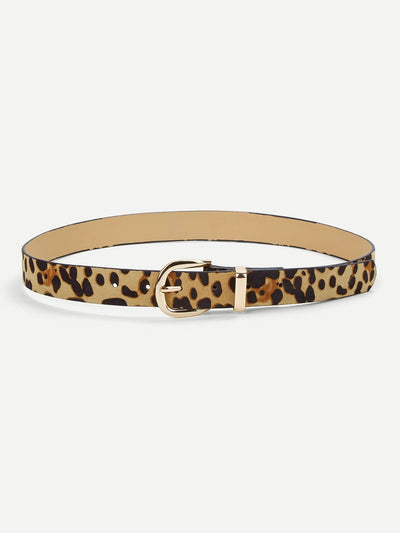 Leopard Pattern Belt - Belts