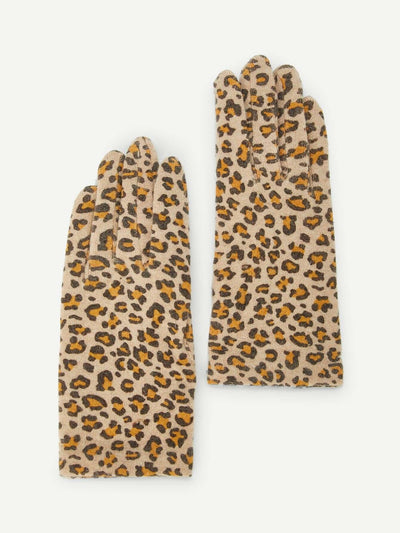 Leopard Print Gloves - Hats & Gloves