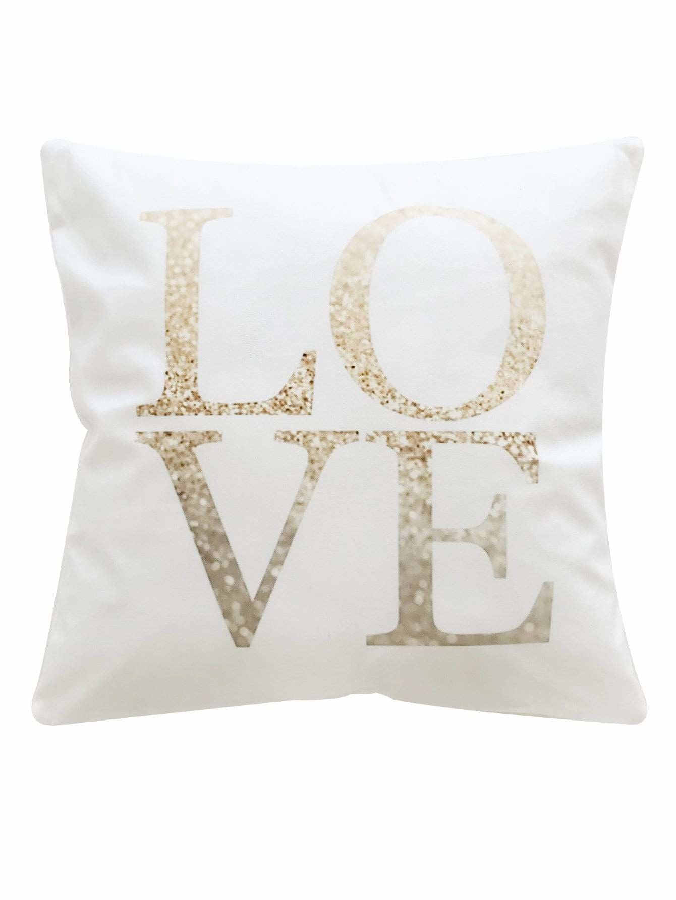 Letter Print Pillowcase