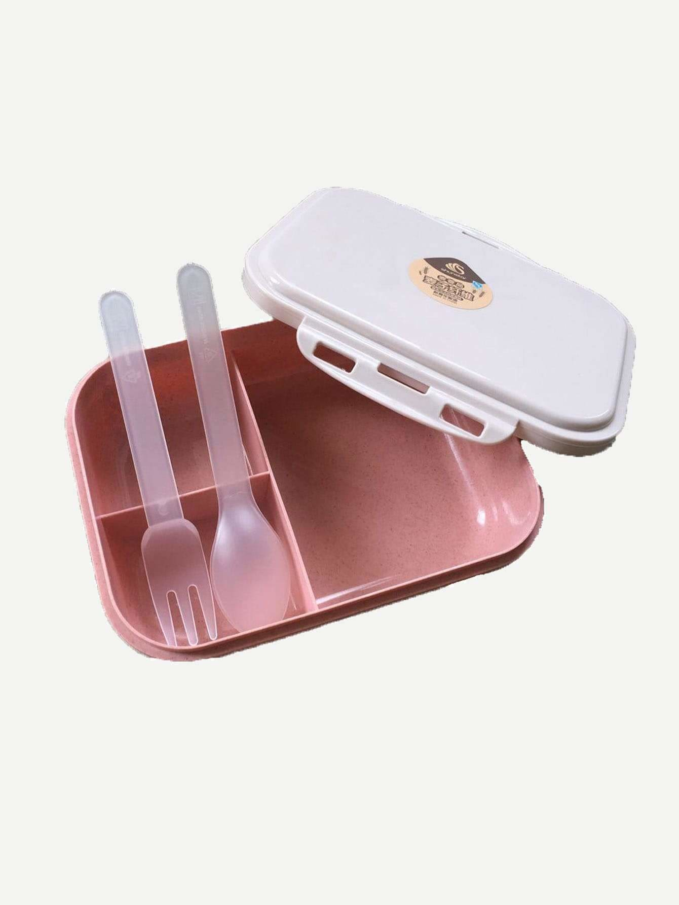 Lunch Box & Spoon 1Pc & Fork 1Pc - One-Size / One Color - Dining