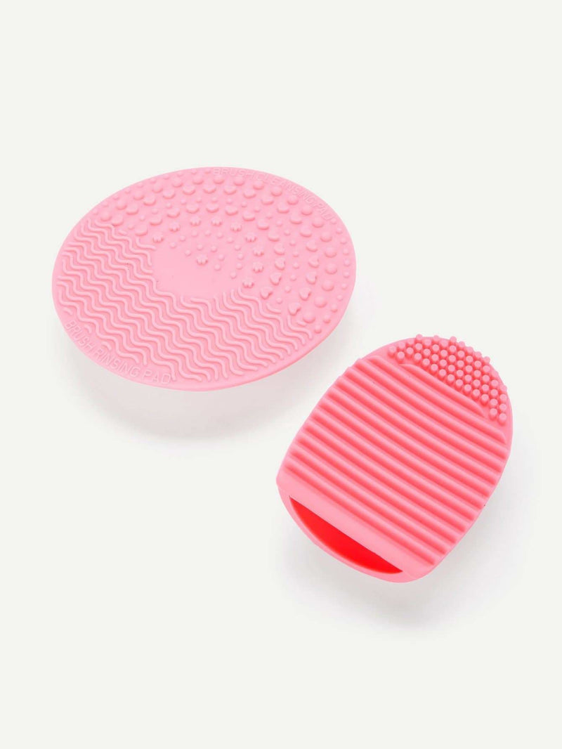 Makeup Brush Egg & Cleaning Pad With Sucker 2Pcs - Beauty Tools